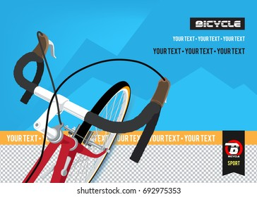 Bicycle. Advertising poster. Sport. Health.Travel. Flyer. Creative banner.