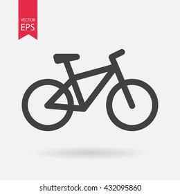 Bicycle. Bike icon vector. Cycling concept. Sign for bicycles path Isolated on white background. Trendy Flat style for graphic design, logo, Web site, social media, UI, mobile app, EPS10