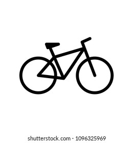 Bicycle. Bike icon vector in flat style. Cycling symbol. Sign for bicycle path Isolated on white background. Vector illustration for graphic design, web site, UI, mobile app, social media