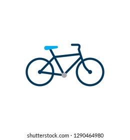 Bicycle. Bike icon vector in flat style. Cycling symbol. Sign for bicycle path Isolated on white background. Vector illustration for graphic design, web site, UI, mobile app