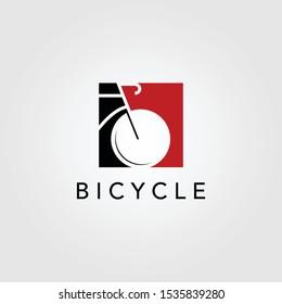 bicycle bike logo icon negative space vector design illustration