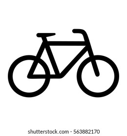 Bicycle, black isolated icon, vector illustration.