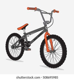 Bicycle bmx sport illustration, typography, t-shirt graphics, vectors