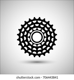 Bicycle cassette. Vector icon. More Icon in set.