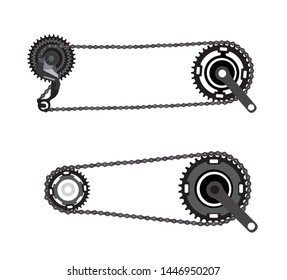 Bicycle chain, bicycle gear shifter, bicycle drive system