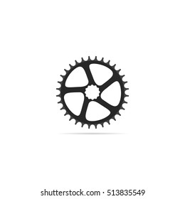 Bicycle chainring 32 tooth isolated on a white background.