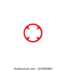 bicycle chainring vector illustration logo icon template