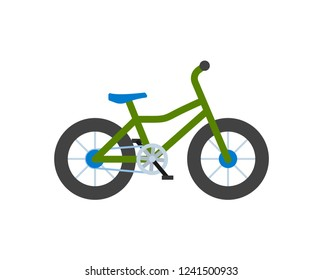 Bicycle closeup, bike with wheels isolated icon vector. Transportation of people loving healthy lifestyle and active life. Vehicle with pedals cycling