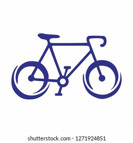 Bicycle company logo. Ilustration of bicycle.  vector Bicycle icon, vector Bicycle illustration - sport symbol - Vector
