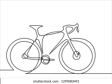 Bicycle. Continuous line