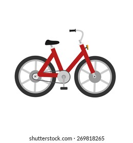 Bicycle, cycle, two wheeler, transport icon vector image. Can also be used for communication, connection, technology. Suitable for web apps, mobile apps and print media.