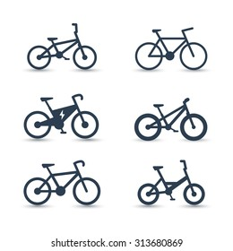bicycle, cycling, bike, electric bike, fat-bike icons, vector illustration, eps10