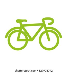 Bicycle cyclism sport icon vector illustration graphic design