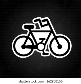 bicycle design over gray background  vector illustration
