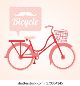 bicycle design over pink background vector illustration