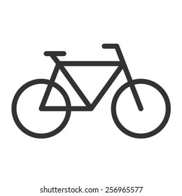 Bicycle fitness or messenger bike line art vector icon for apps and websites