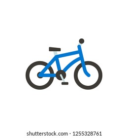 bicycle flat vector icon