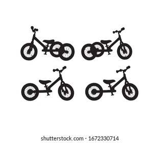 Bicycle four silhouette designs