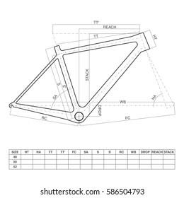 Bicycle frame drawing
