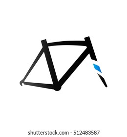 Bicycle frame icon in duo tone color. Sport cycling parts