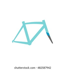Bicycle frame icon in flat color style. Sport transportation leisure size fitting