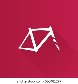 Bicycle frame icon in Metro user interface color style. Sport cycling parts