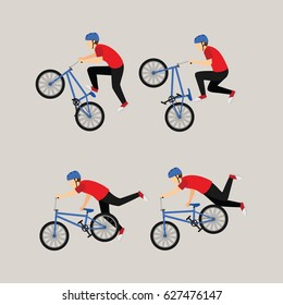 bicycle freestyle design vector