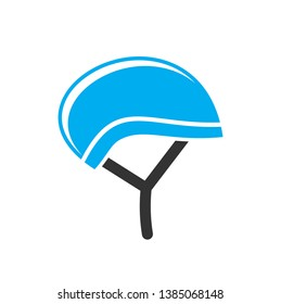 Bicycle helmet icon on background for graphic and web design. Simple vector sign. Internet concept symbol for website button or mobile app