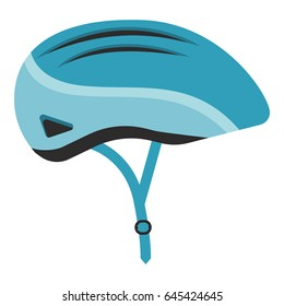 Bicycle helmet isolated. Vector illustration