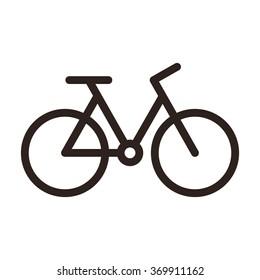 Bicycle icon. Bike symbol isolated on white background