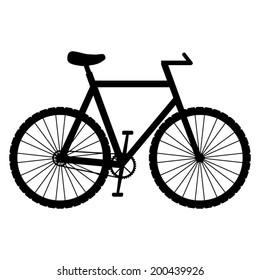 Bicycle icon - black vector illustration