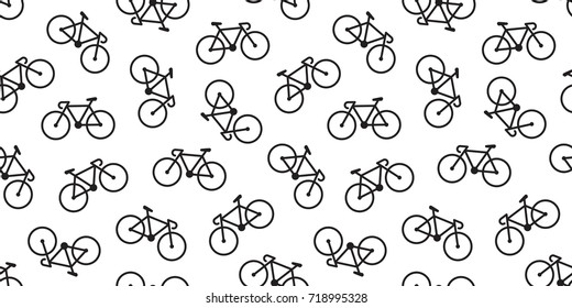 bicycle icon cycling illustration Seamless Pattern wallpaper background vector
