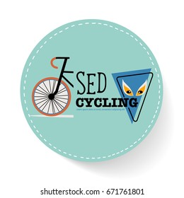 Bicycle icon design. Vector illustration.