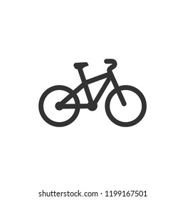 Bicycle. Icon Flat