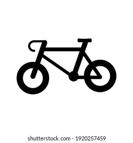 bicycle icon with flat design.