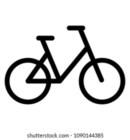 Bicycle icon, flat design style, bike vector illustration