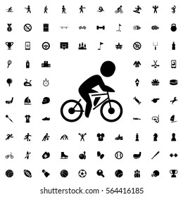 bicycle icon illustration isolated vector sign symbol