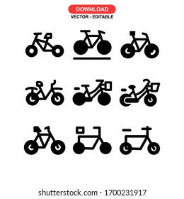 bicycle icon or logo isolated sign symbol vector illustration - Collection of high quality black style vector icons