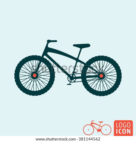 Bicycle Icon Mountain Bike Icon Isolated Stock Vector Royalty Free