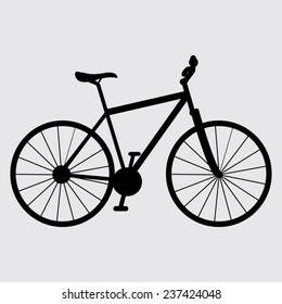 Bicycle icon on a gray background