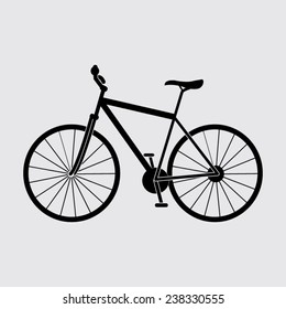 Bicycle icon on a grey background