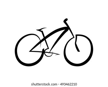 Bicycle icon on white background