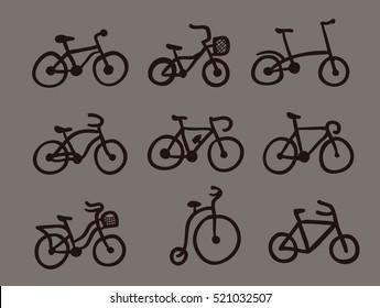 bicycle icon set
