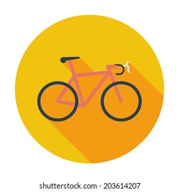 Bicycle icon. Single flat color icon. Vector illustration.