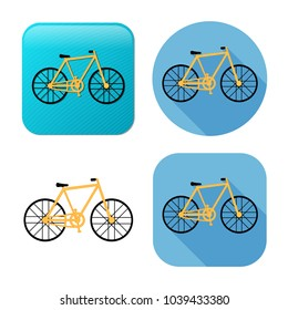 bicycle icon - vector bike illustration - sport symbol
