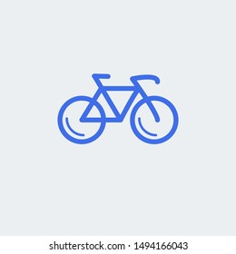 Bicycle icon vector illustration symbol