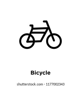 Bicycle icon vector isolated on white background, logo concept of Bicycle sign on transparent background, filled black symbol
