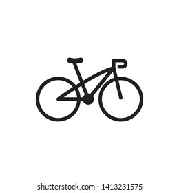 Bicycle icon vector logo template - Vector