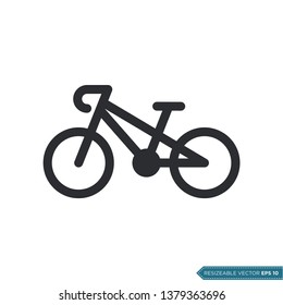 Bicycle Icon Vector Template