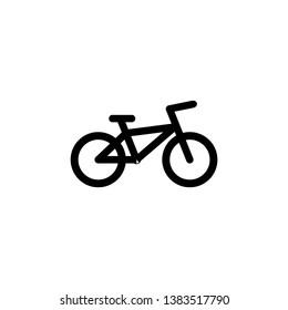bicycle icon vector. transportation icon vector